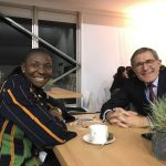 Princess Abze Djigma with Mr Gerard Mestrallet