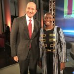 Princess Abze Djigma with Prof. Dr. Christof Erhart DHL