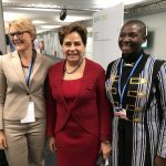 Princess Abze Djigma with Patricia Espinosa (UNFCCC) and Dr. Tania Rodiger-Vorwerk (BMZ)
