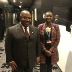 Princess Abze Djigma with Ali Bongo  President of Gabon