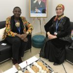 Princess Abze Djigma with Nezha El Ouafi, Secretary of State Morocco